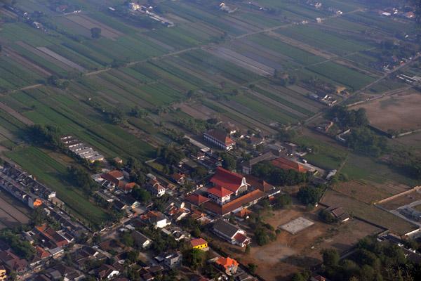 Suburbs and farmland outside Yogyakarta, Indonesia