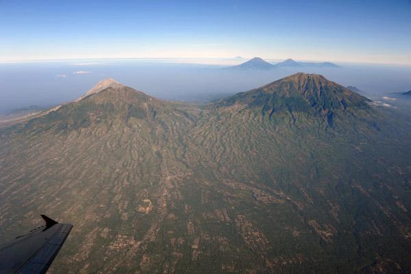 Climbing out of Yogyakarta, Indonesia