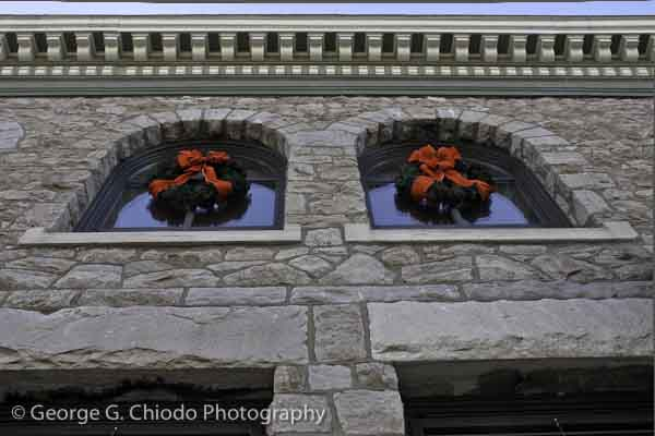 Historic Downingtown National Bank Christmas Decorations