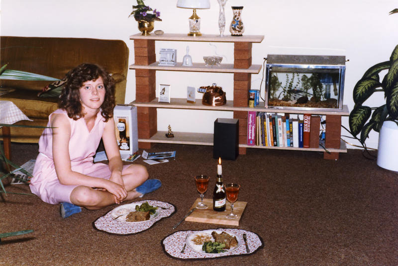 Candlelight Dinner, 1984 - Just married and no table