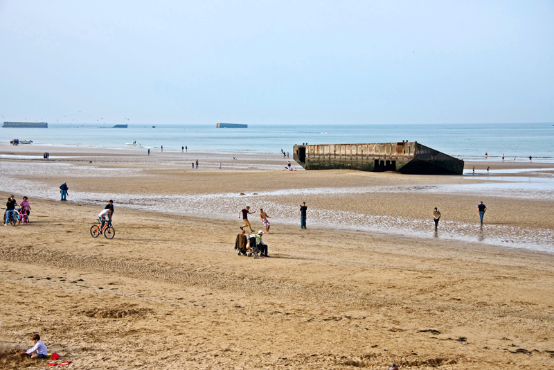 Gold Beach at Arromanches