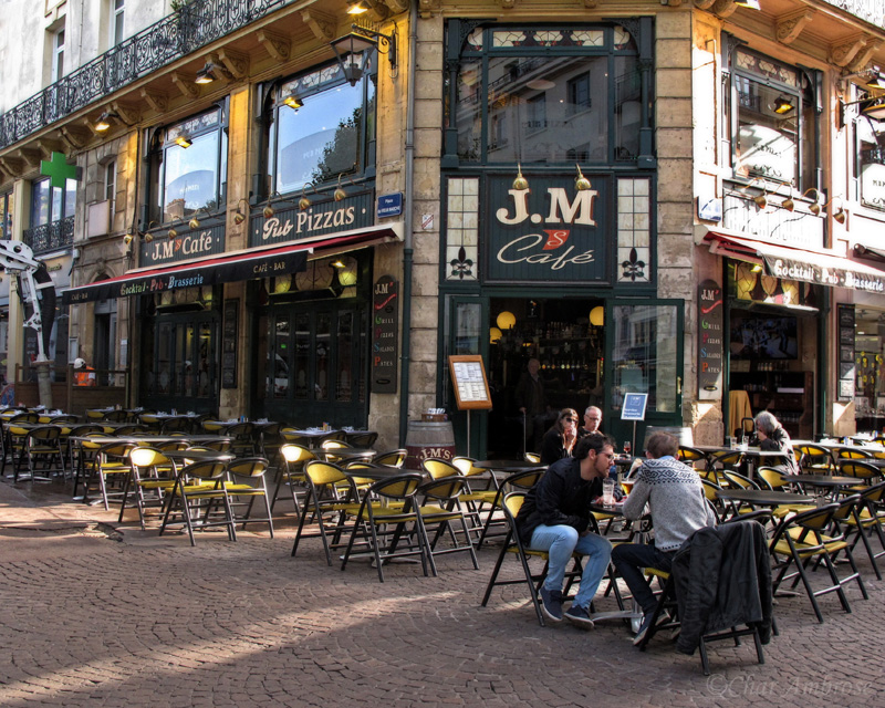 Sidewalk Cafe in Rouen