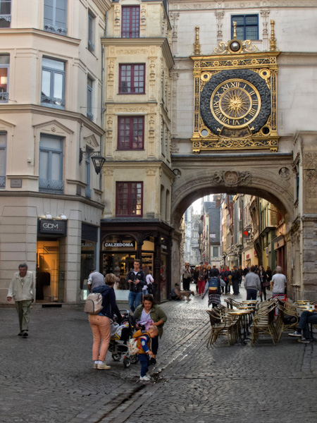 Astronomic Clock in Old Town Rouen