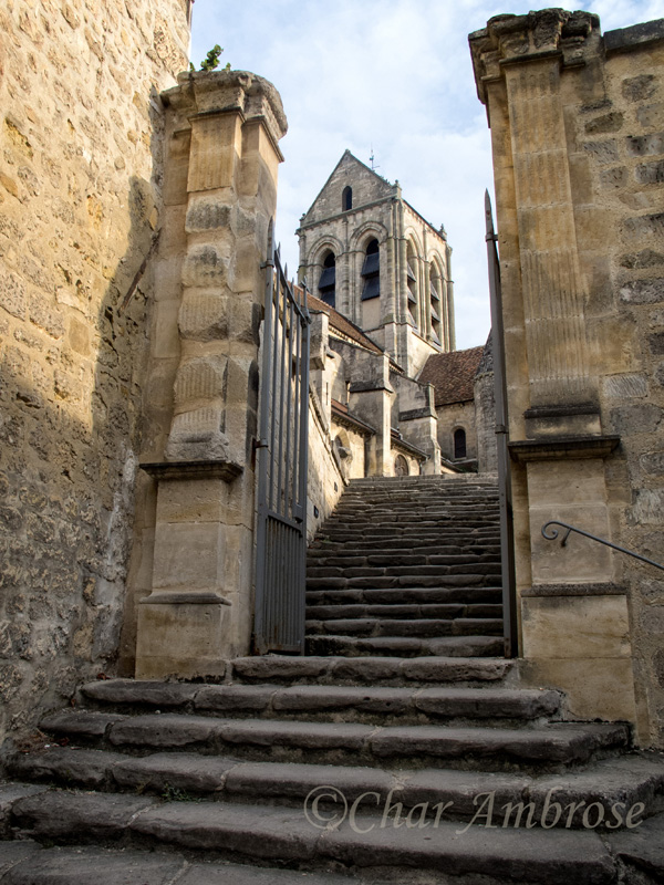 Staircase behind Notre Dame DAuvers