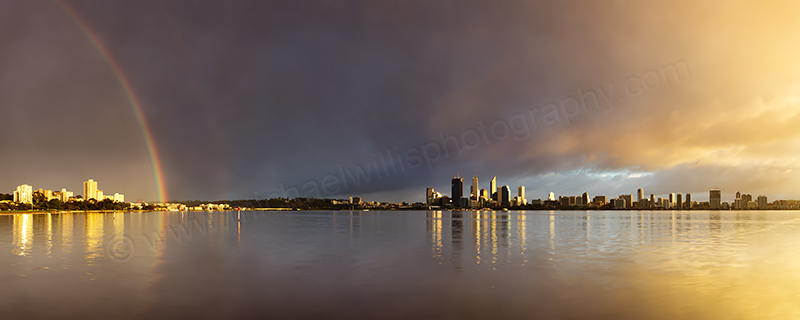 Perth and the Swan River at Sunrise, 2nd August 2011