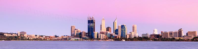 Perth and the Swan River at Sunrise, 1st November 2011