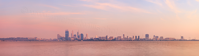 Smoke Over Perth and the Swan River at Sunrise, 26th November 2011.jpg