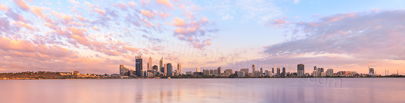 Perth and the Swan River at Sunrise, 28th November 2011