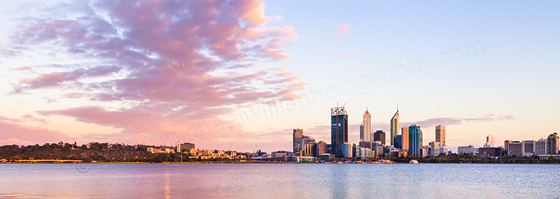 Perth and the Swan River at Sunrise, 29th November 2011