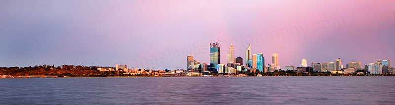 Perth and the Swan River at Sunrise, 6th December 2011