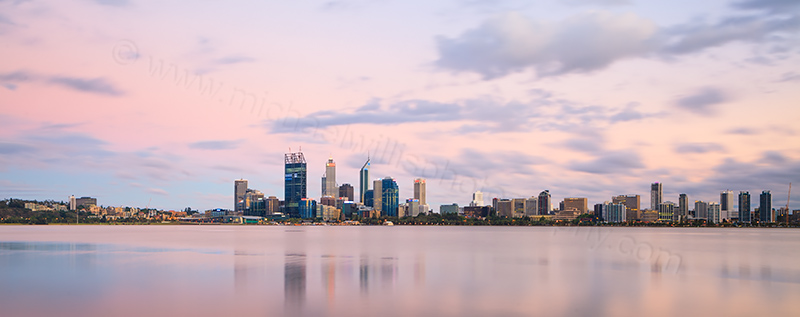 Perth and the Swan River at Sunrise, 14th December 2011