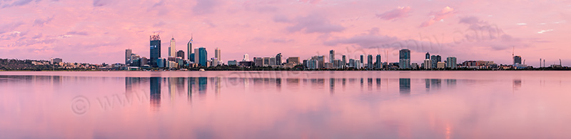 Perth and the Swan River at Sunrise, 30th December 2011