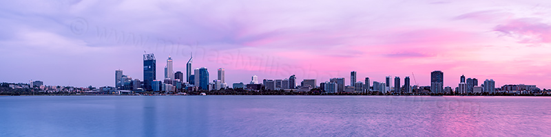 Perth and the Swan River at Sunrise, 5th January 2012