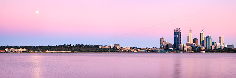 Perth and the Swan River at Sunrise, 10th January 2012