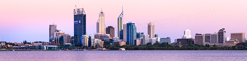 Perth and the Swan River at Sunrise, 11th January 2012