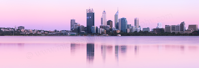 Perth and the Swan River at Sunrise, 8th January 2012