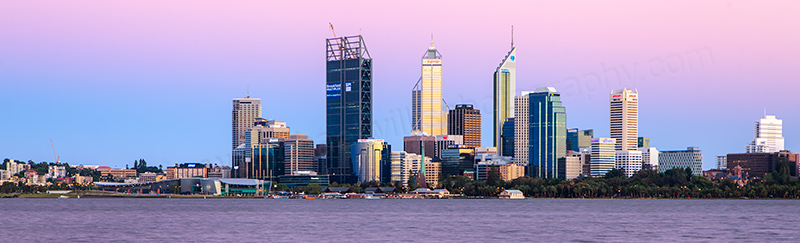 Perth and the Swan River at Sunrise, 13th January 2012
