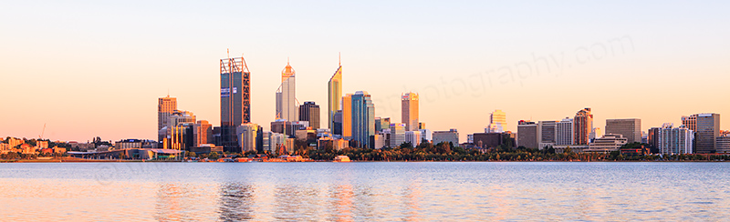 Perth and the Swan River at Sunrise, 19th January 2012