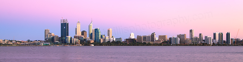 Perth and the Swan River at Sunrise, 5th February 2012