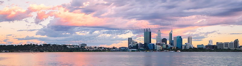 Perth and the Swan River at Sunrise, 10th February 2012