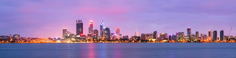 Perth Swan River Sunrise, 12th February 2012