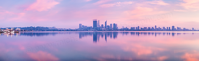 Perth and the Swan River at Sunrise, 15th February 2012
