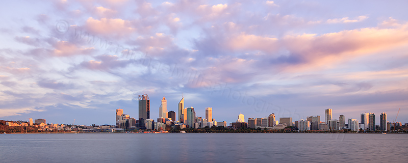 Perth and the Swan River at Sunrise, 19th February 2012