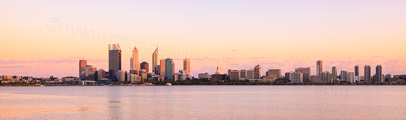 Perth and the Swan River at Sunrise, 20th February 2012