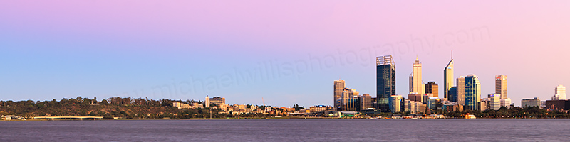 Perth and the Swan River at Sunrise, 1st March 2012