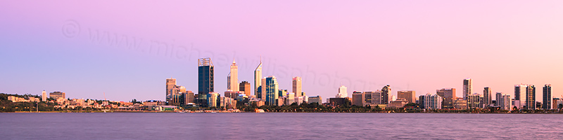 Perth and the Swan River at Sunrise, 2nd March 2012