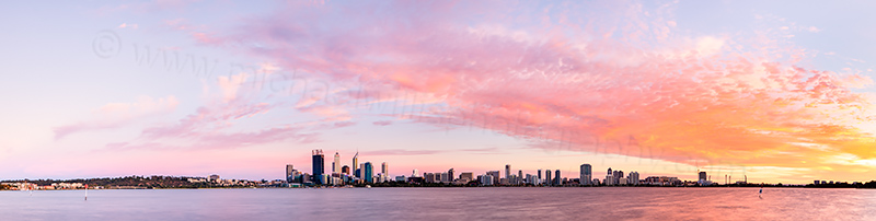 Perth and the Swan River at Sunrise, 3rd March 2012