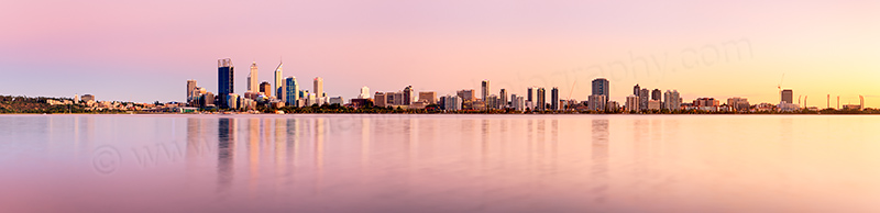 Perth and the Swan River at Sunrise, 5th March 2012