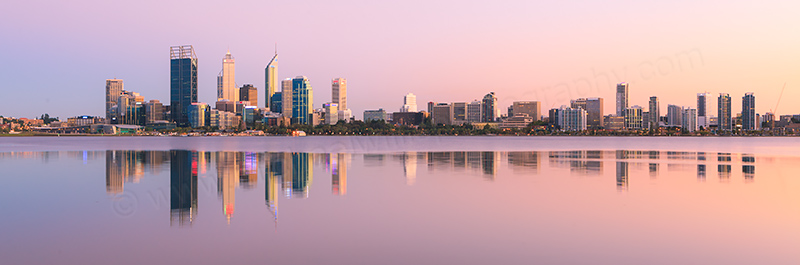 Perth and the Swan River at Sunrise, 7th March 2012