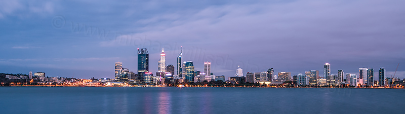 Perth and the Swan River at Sunrise, 13th March 2012