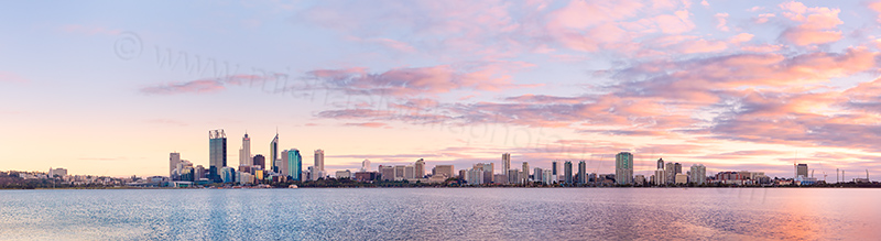 Perth and the Swan River at  Sunrise, 22nd March 2012