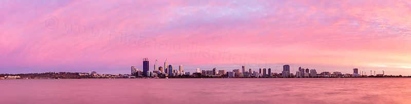 Perth and the Swan River at Sunrise, 24th March 2012