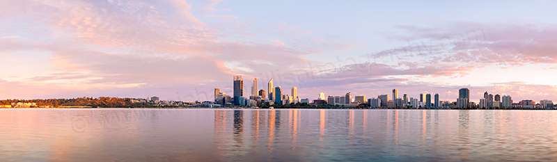 Perth and the Swan River at Sunrise, 25th March 2012