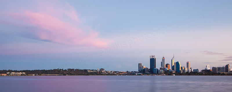Perth and the Swan River at Sunrise, 8th April 2012