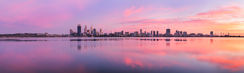 Perth and the Swan River at Sunrise, 12th April 2012