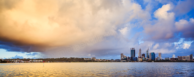 Perth and the Swan River at Sunrise, 29th April 2012