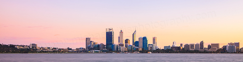 Perth and the Swan River at Sunrise, 2nd May 2012