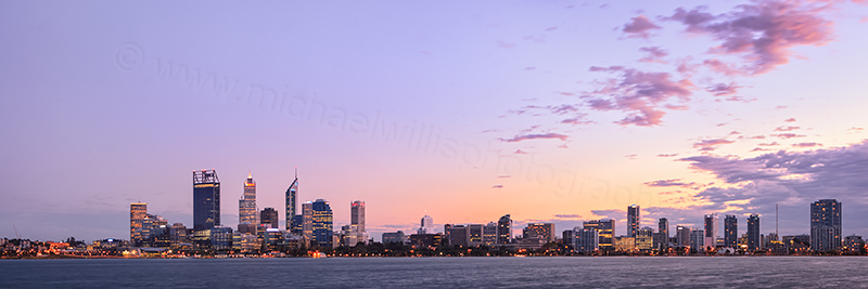 Perth and the Swan River at Sunrise, 3rd May 2012