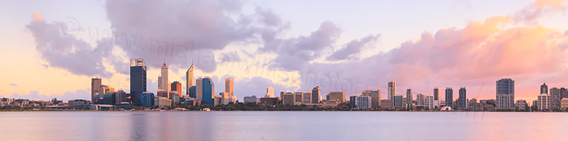 Perth and the Swan River at Sunrise, 6th May 2012
