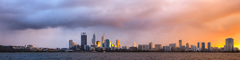 Perth and the Swan River at Sunrise, 7th May 2012