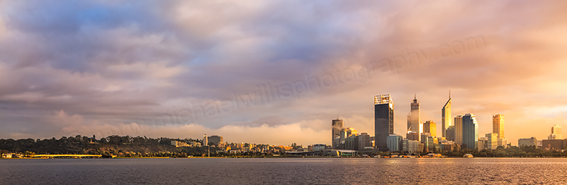Perth and the Swan River at Sunrise, 10th May 2012