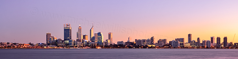 Perth and the Swan River at Sunrise, 12th May 2012