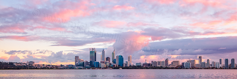 Perth and the Swan River at Sunrise, 14th May 2012