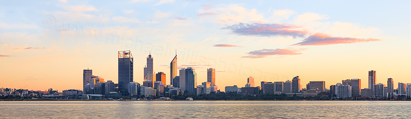 Perth and the Swan River at Sunrise, 17th May 2012
