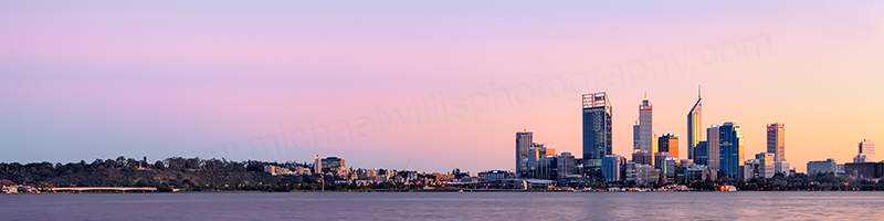 Perth and the Swan River at Sunrise, 20th May 2012