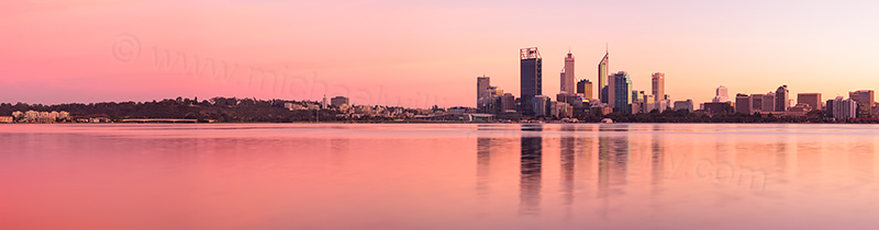 Perth and the Swan River at Sunrise, 25th May 2012